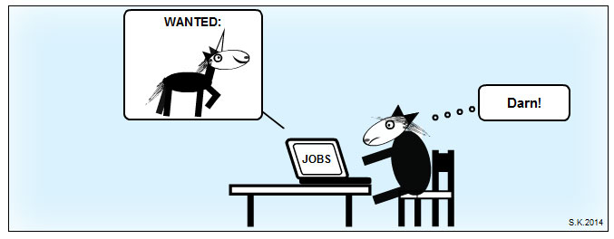 UX unicorn cartoon