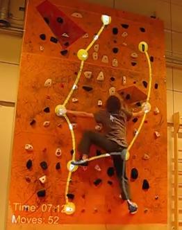 Augmented climbing wall