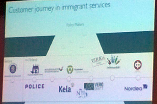 Customer journey map of immigrant services