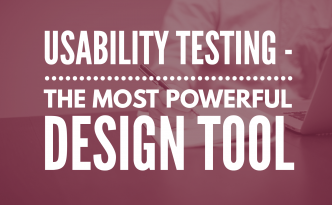 Title image: Usability testing - the most powerful design tool